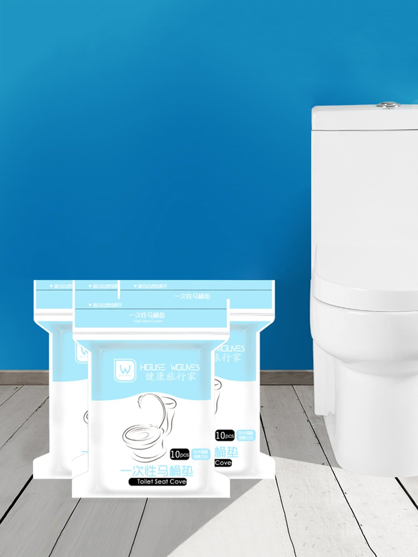 Купить Одноразовая обивка сидения для туалета 10 шт, null, SheIn