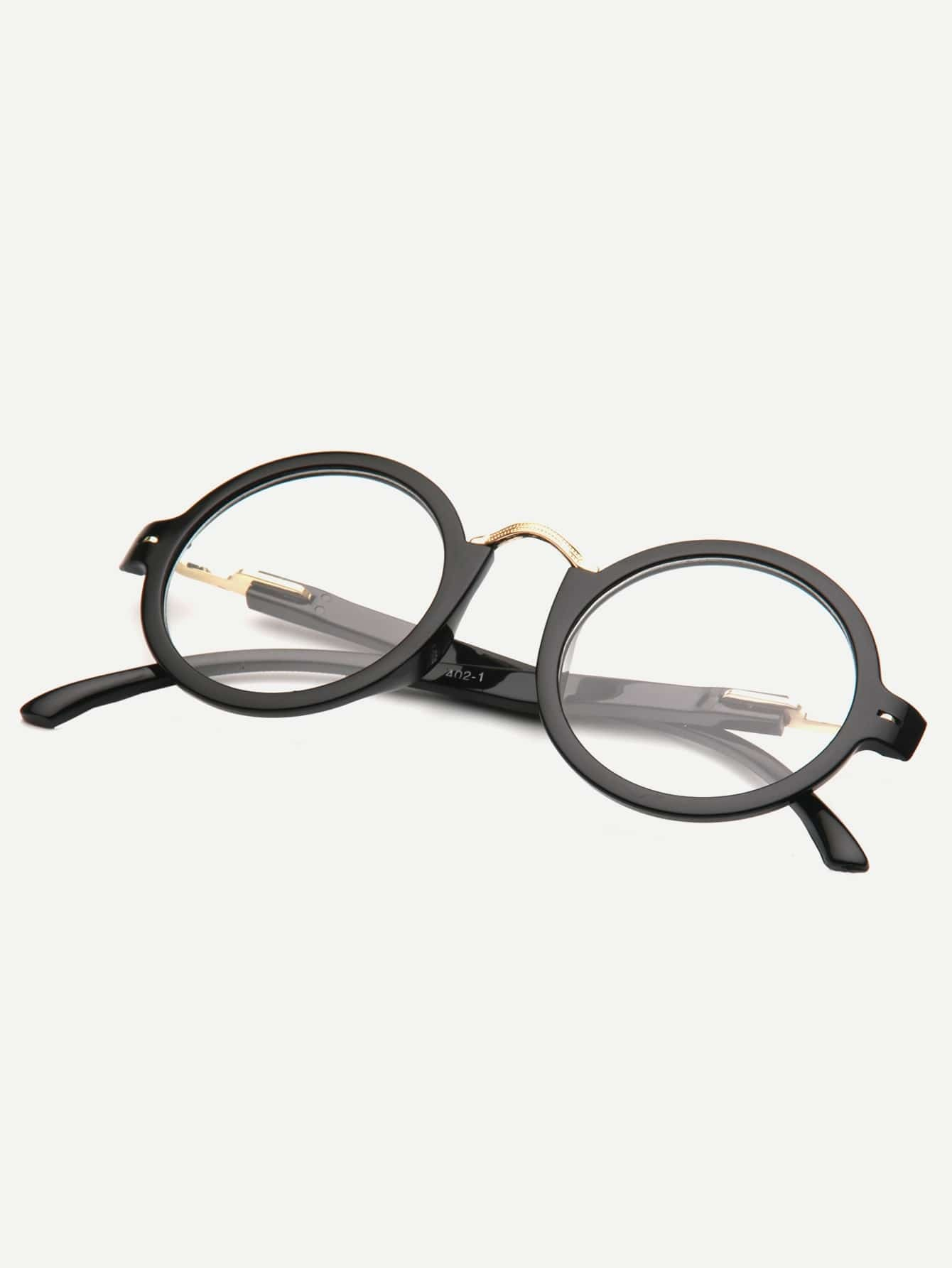 Купить Мужские очки с круглыми ланзами и металлом, null, SheIn