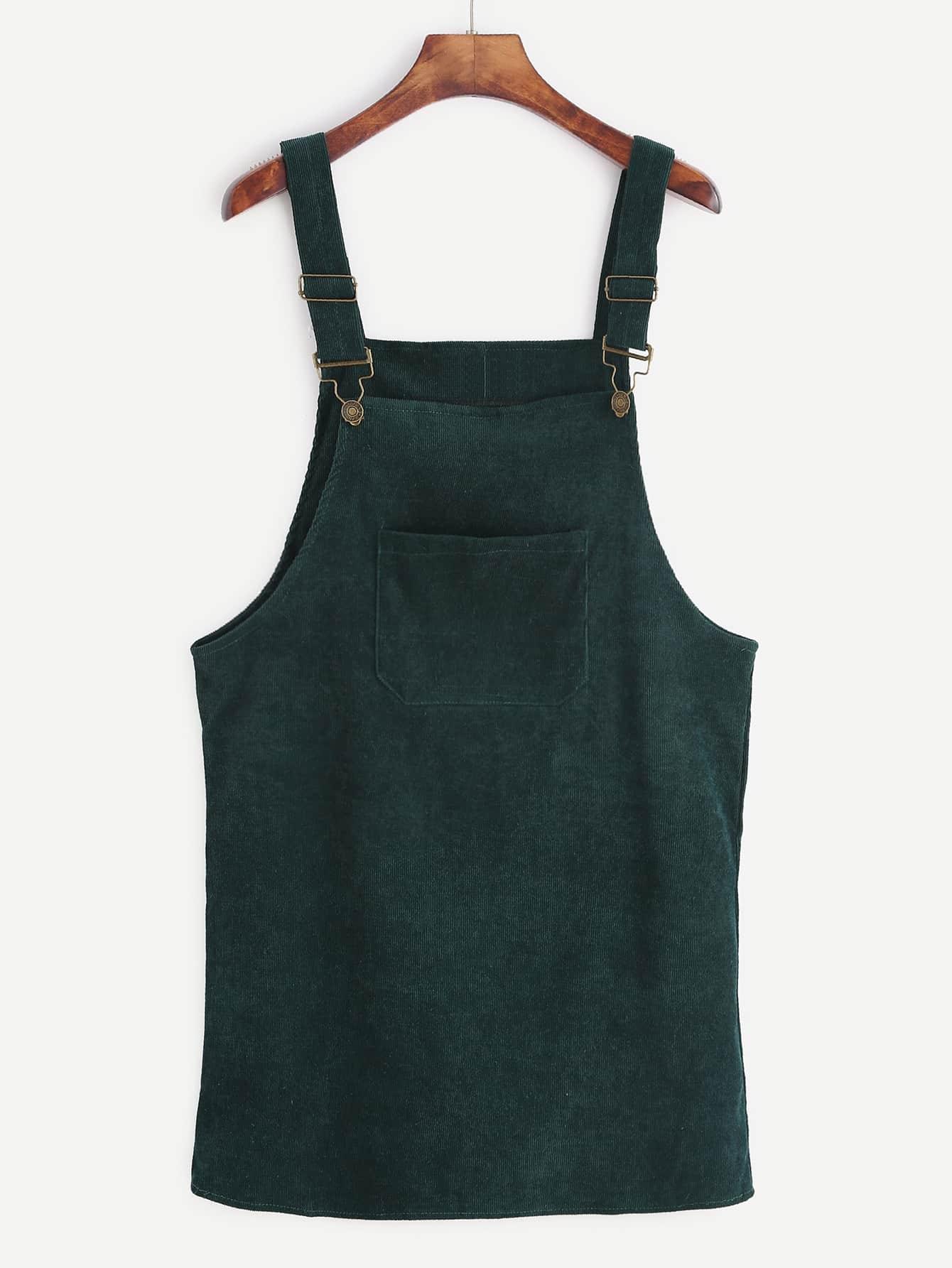 Фото - Размера плюс однотонное вельветовое платье от SheIn цвет зелёные