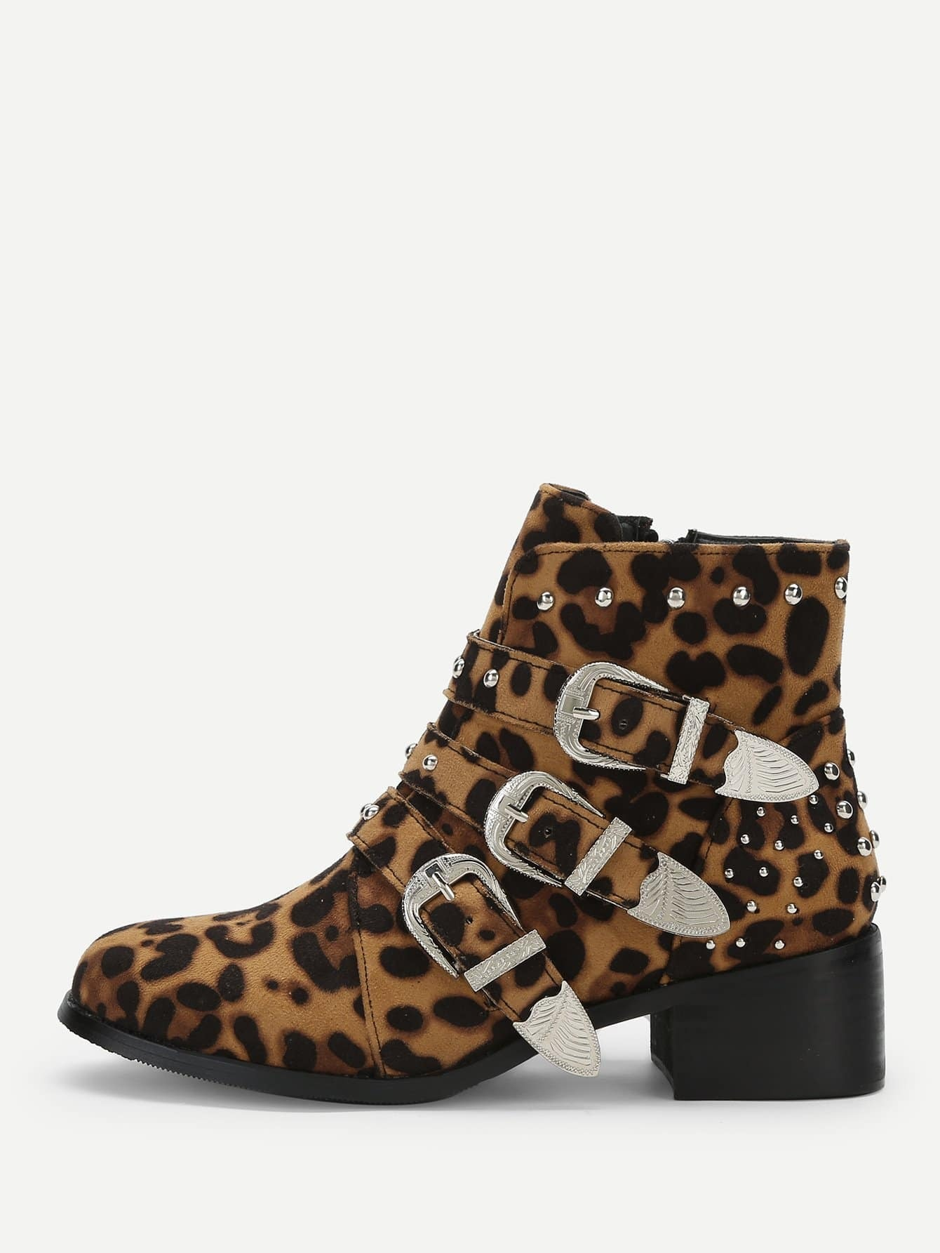 Фото - Леопардовые сапоги от SheIn цвет красочный
