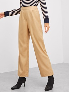 Wide Leg Solid Pants