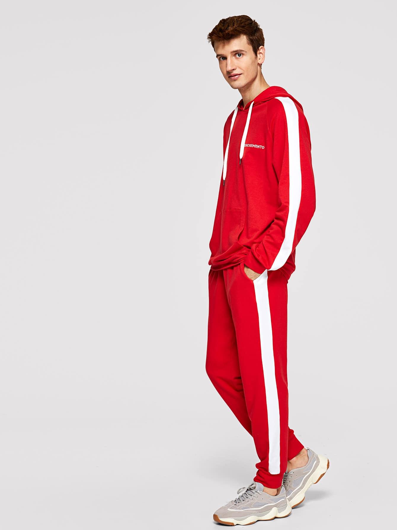 Для мужчин толстовка и спортивные брюки комплект от SheIn