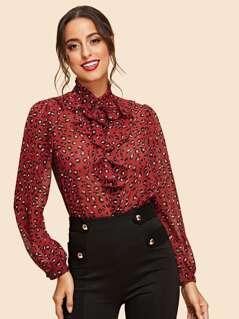 Button Up Leopard Print Shirt