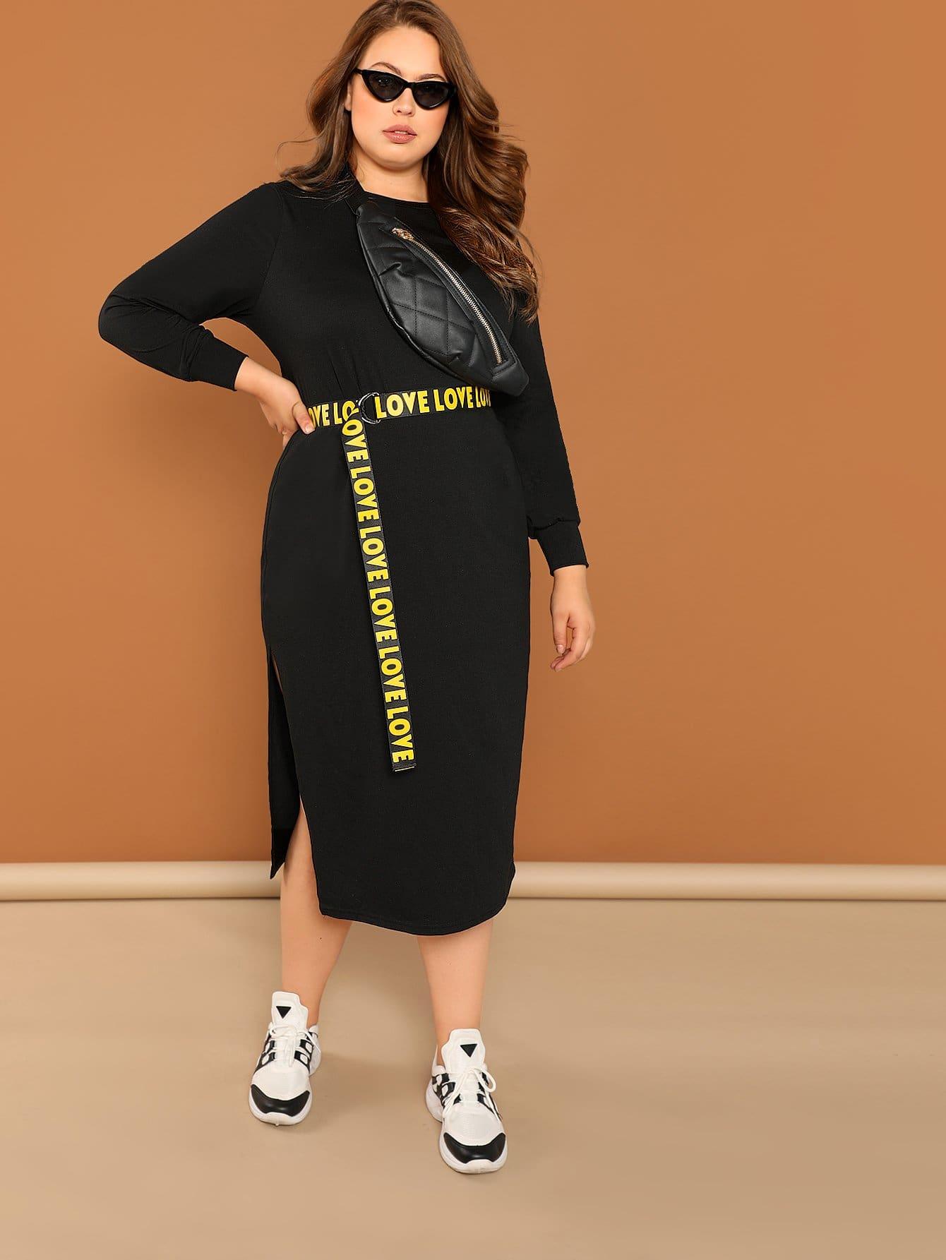 Плюс размеры платье с поясом