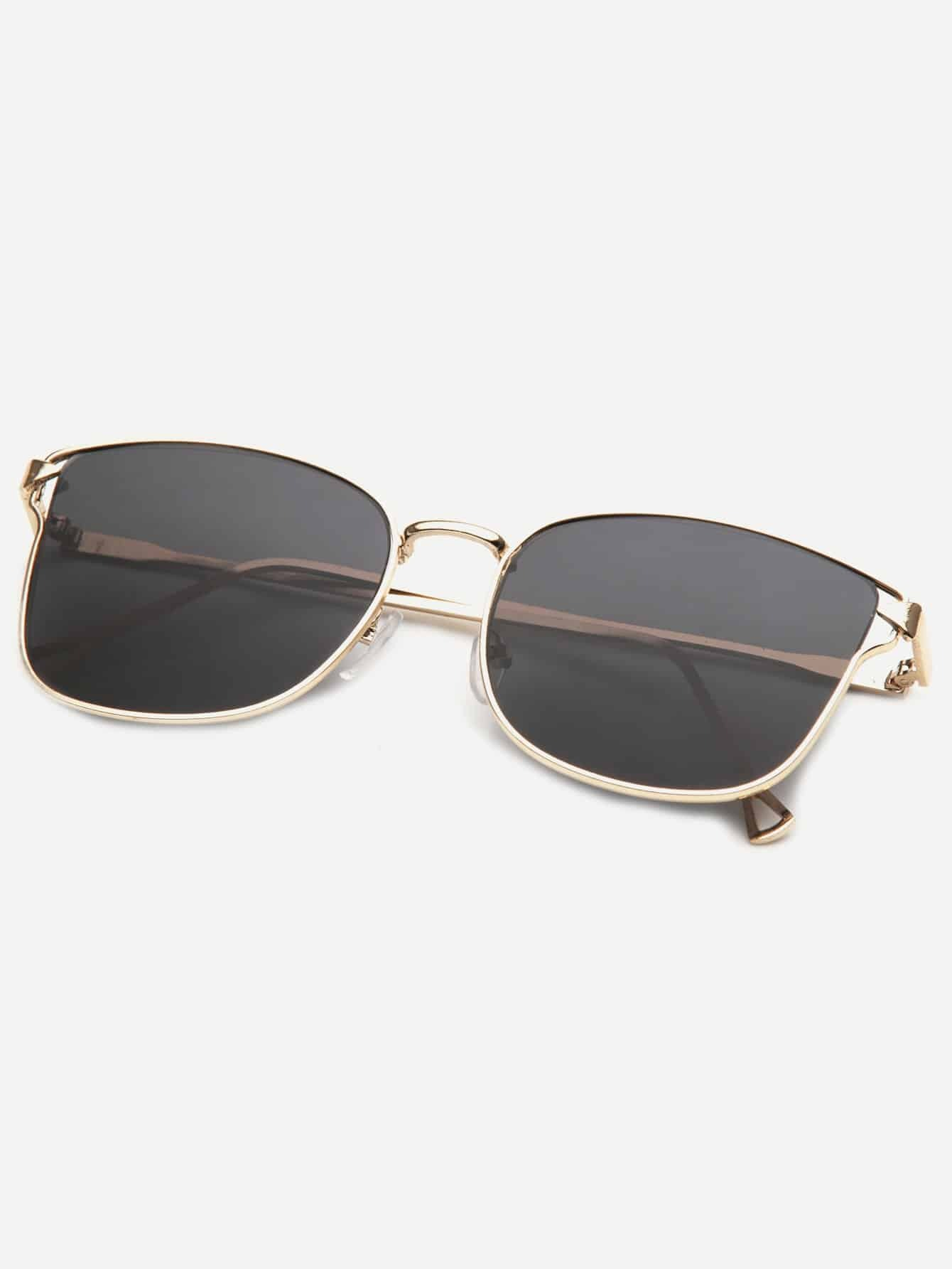Купить Для мужчин Солнцезащитные очки с металлической рамкой, null, SheIn