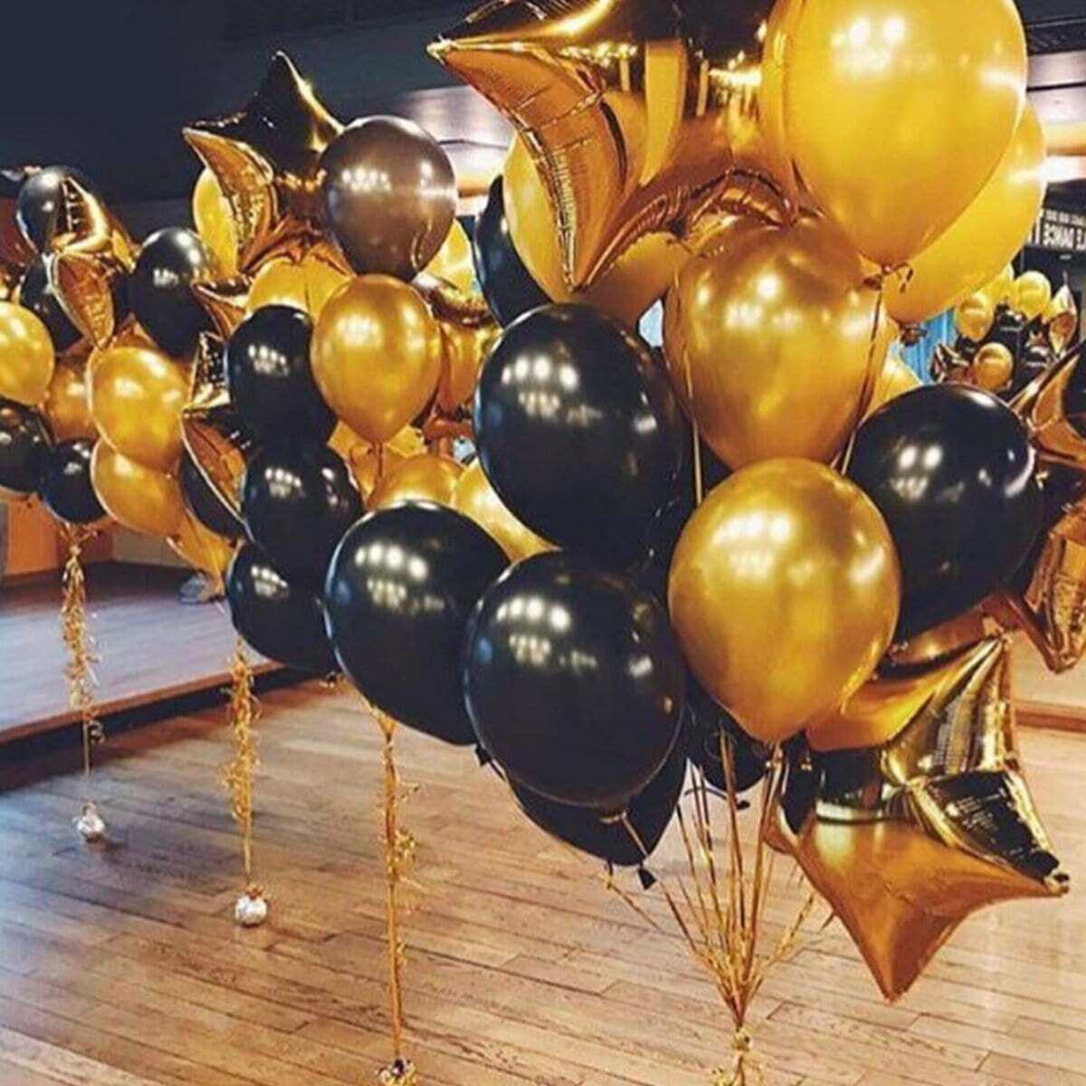 Случайный цветный круглый воздушный шар 10 шт и воздушный шар в форме звезды 3 шт фото