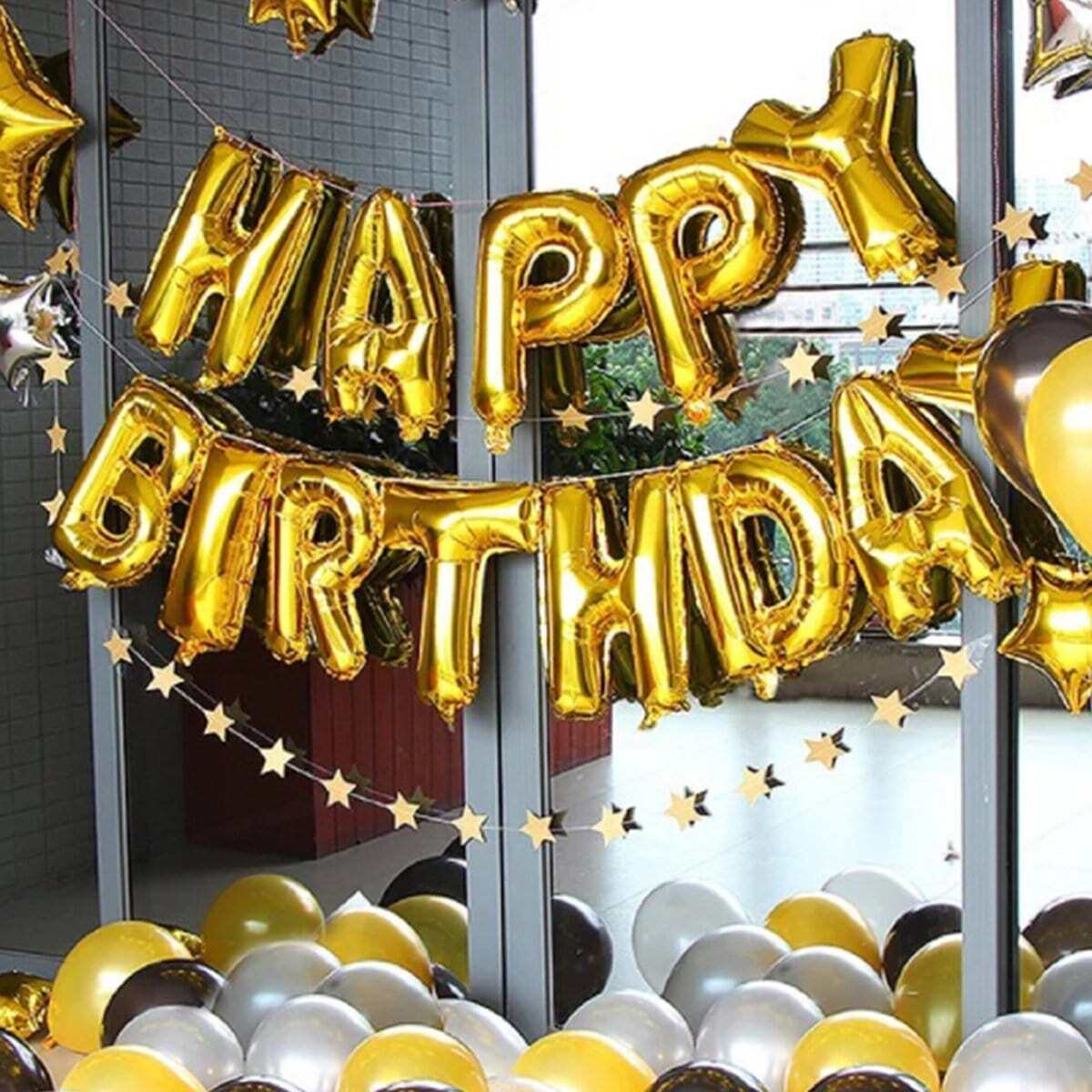 Happy Birthday ballonnen, 40 cm, 13 stuks