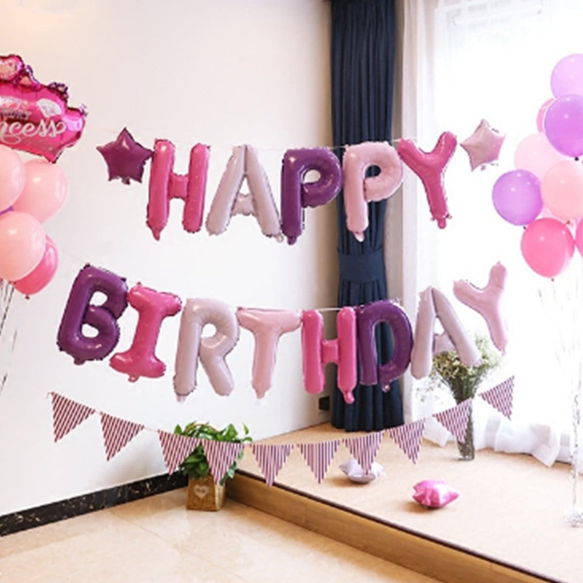 Willekeurige kleur 16 inch verjaardag ballon Banner 13st