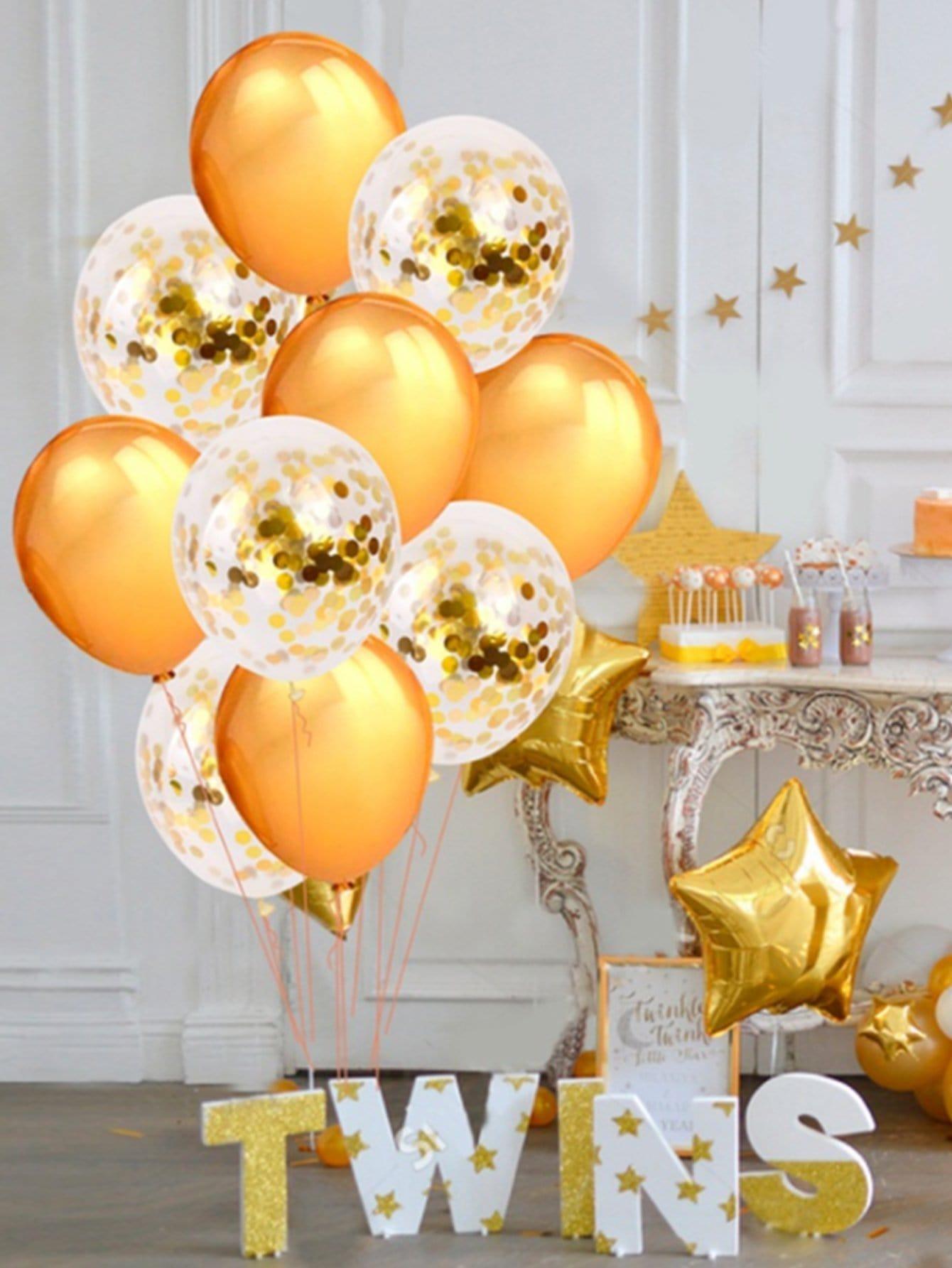 Купить 12 дюймов круглый воздушный шар 5 шт и воздушный шар пайетки 5 шт, null, SheIn