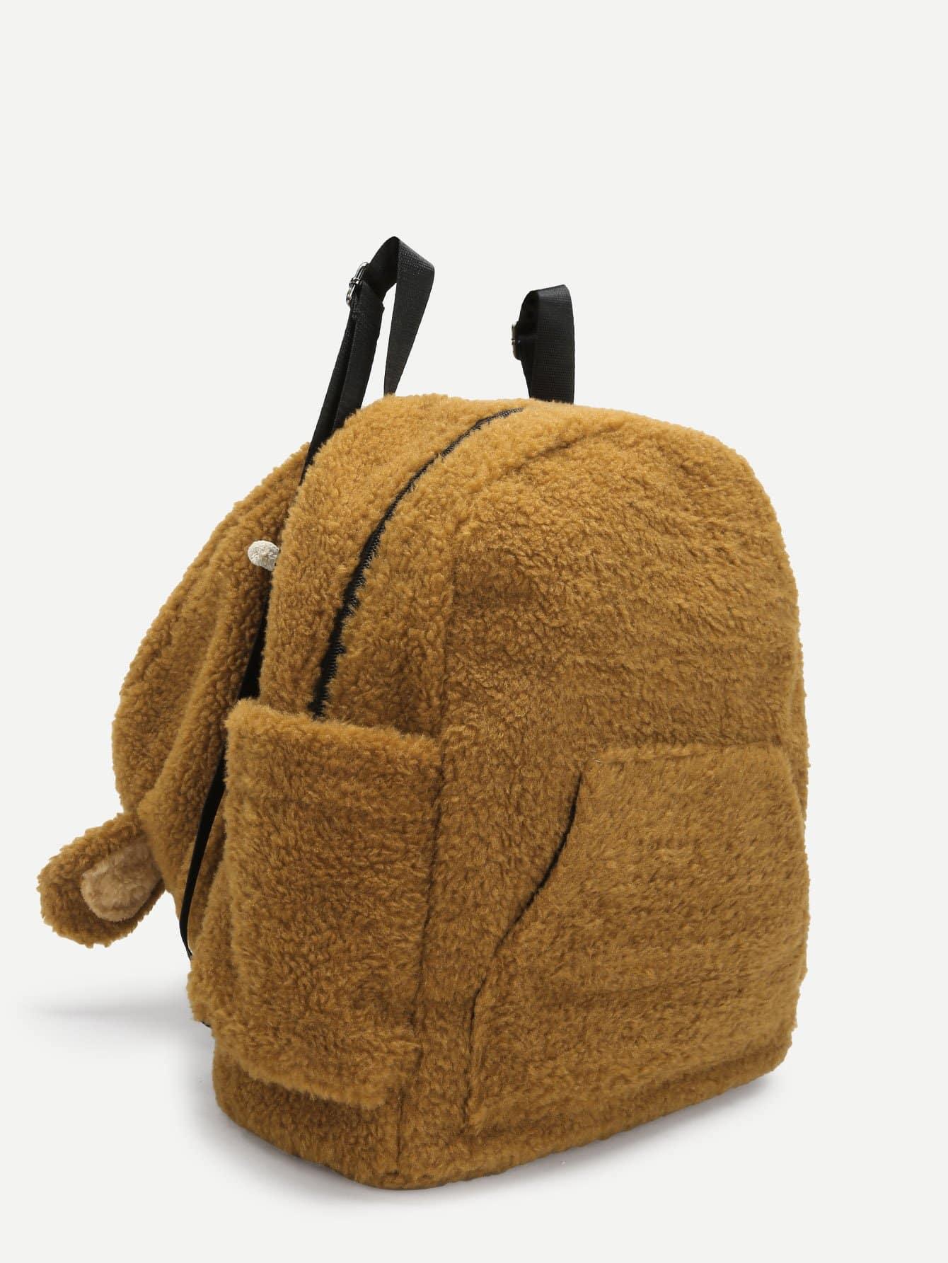 Купить Детский рюкзак с искусственным мехом и шляпа, null, SheIn