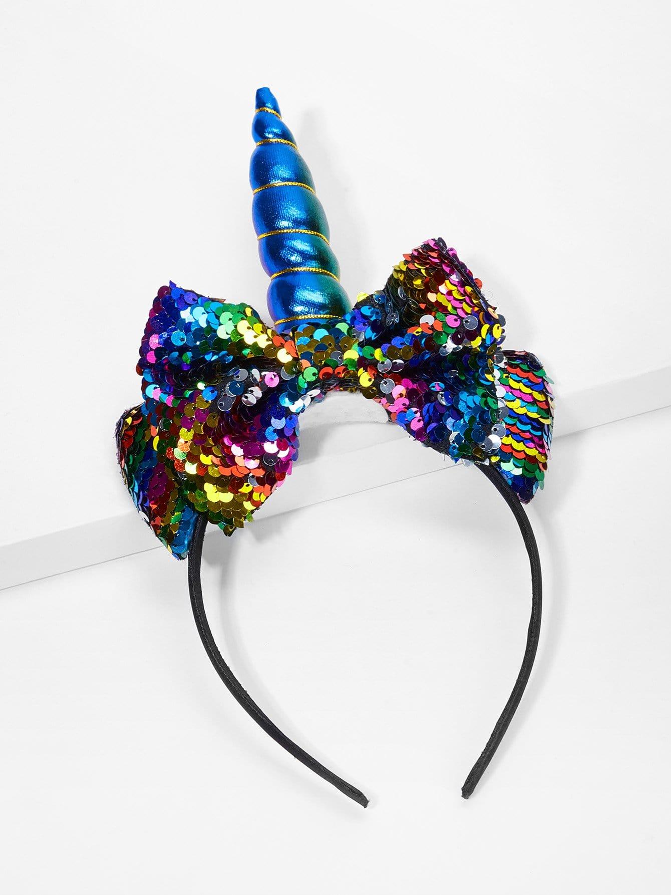 Купить Бандана с украшением бабочки пайетки для девочки, null, SheIn