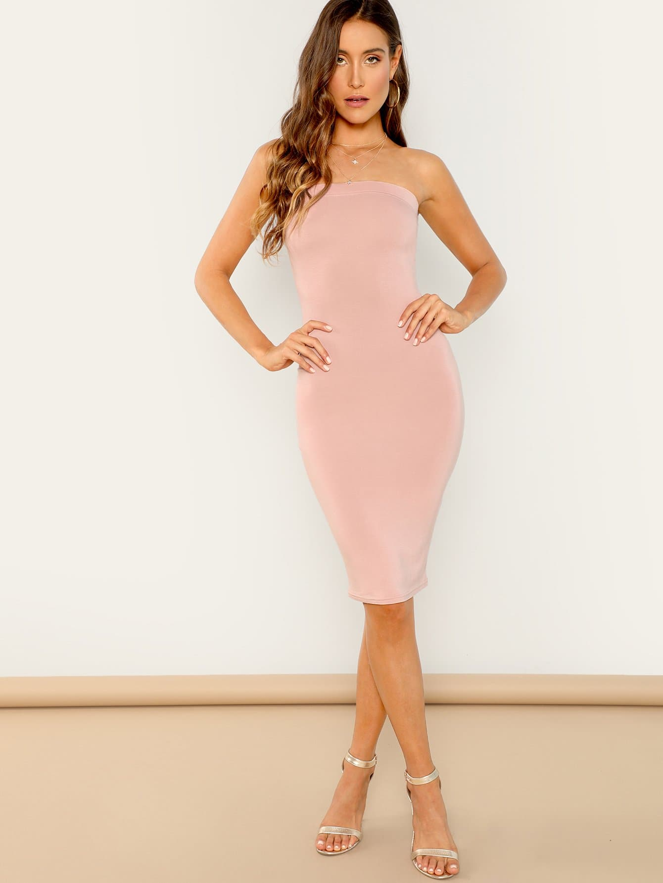 Купить Облегающое платье без рукавов, Anna Herrin, SheIn