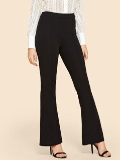 Contrast Binding Straight Leg Pants
