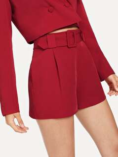 Buckle Belt Detail Tailored Shorts