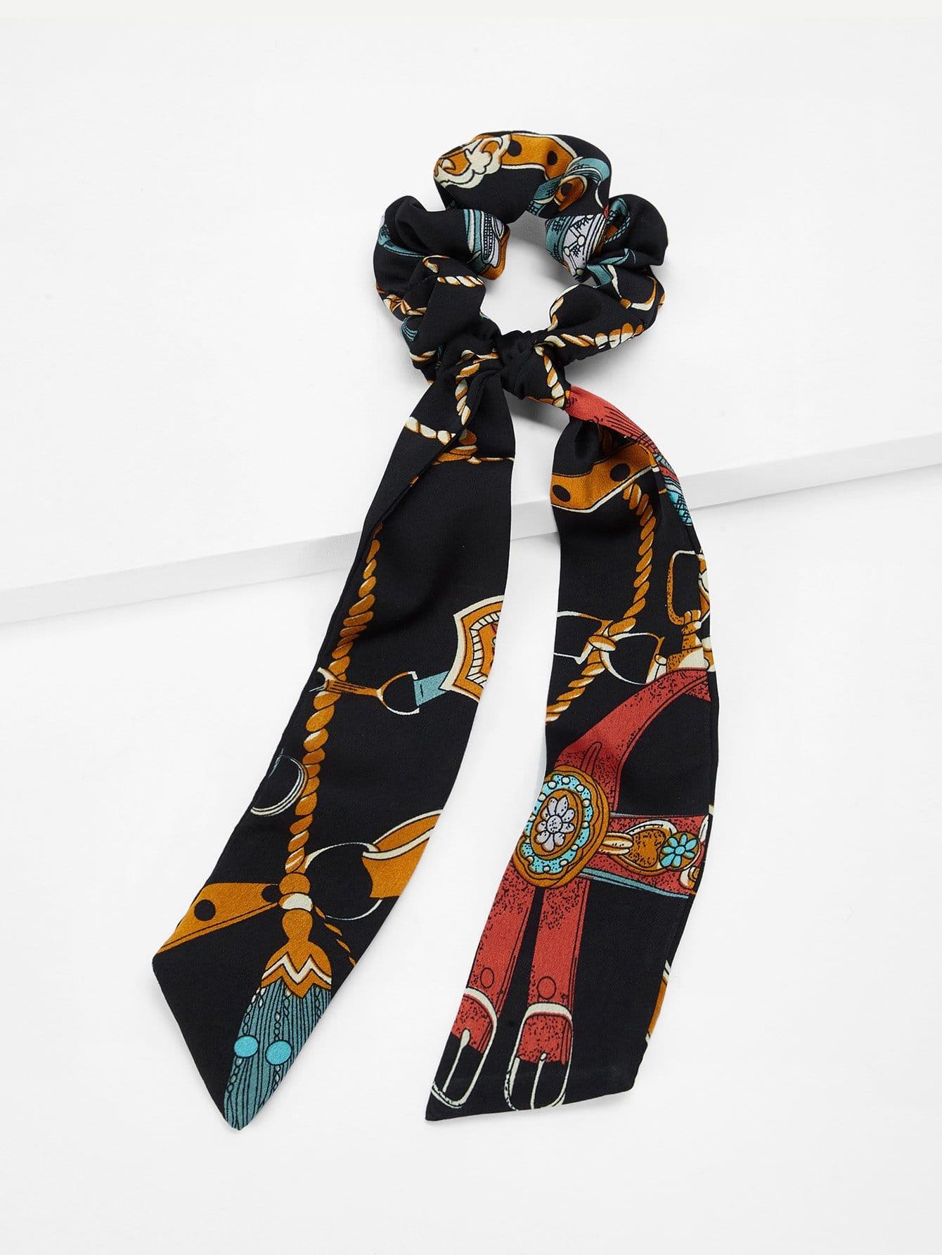 Фото - Длинные аксессуары с принтом цветочным от SheIn цвет многоцветный