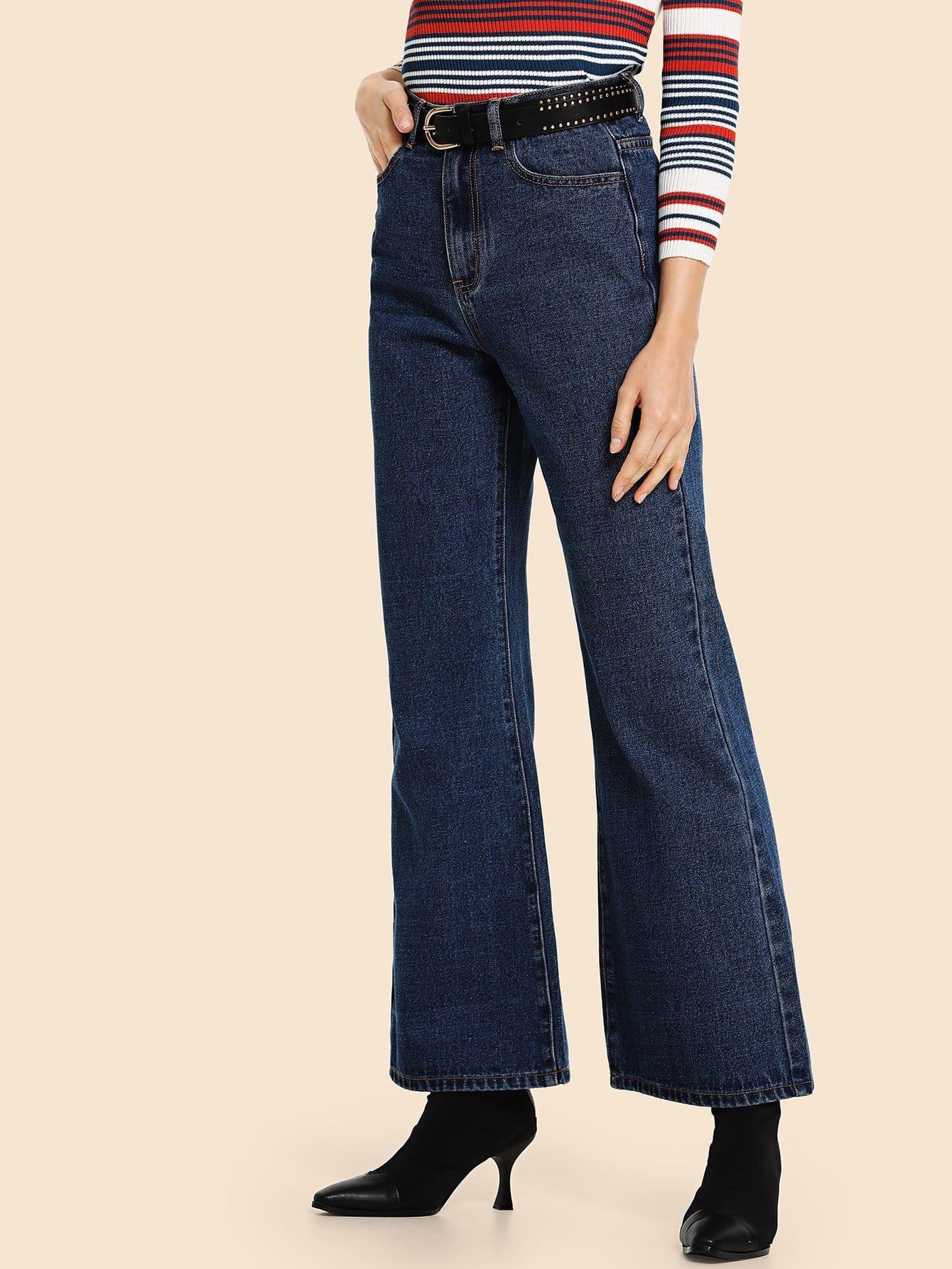 Купить Женские расклешенные джинсы, Masha, SheIn