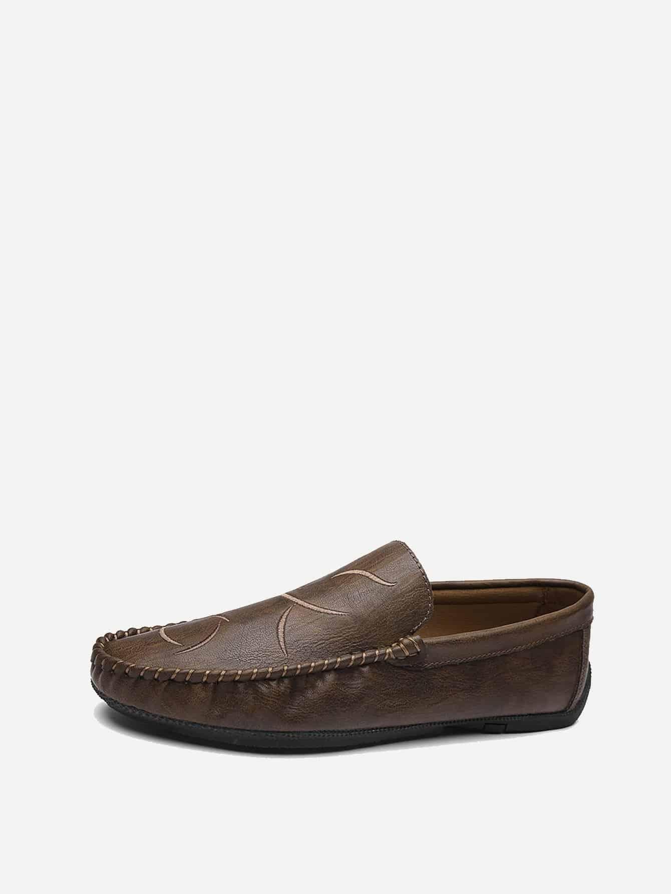 Купить Мужская обувь с вышивкой, null, SheIn