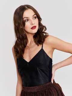 Leather Look Cami Top