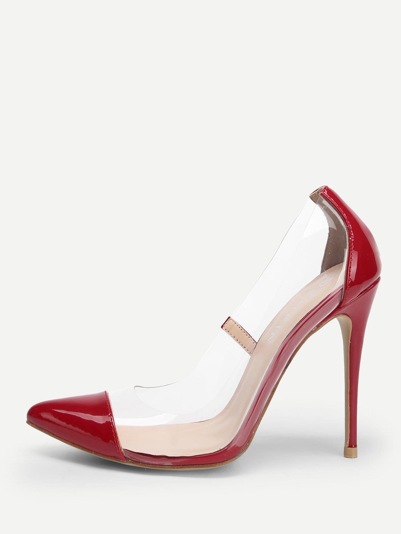 Купить Прозрачные сапоги на высоких каблуках, null, SheIn
