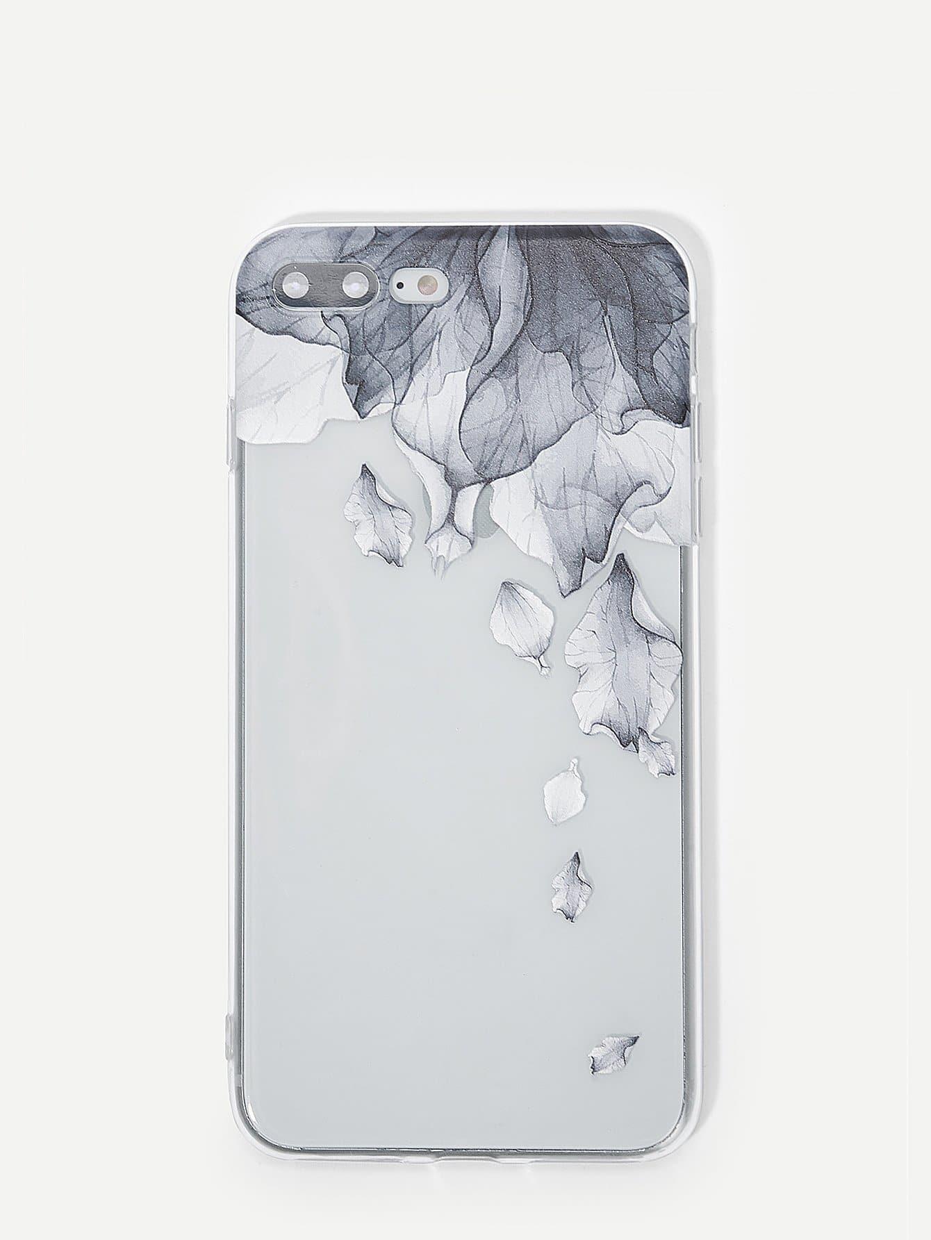 Купить Чехол для iPhone с принтом чернилы и мытья, null, SheIn