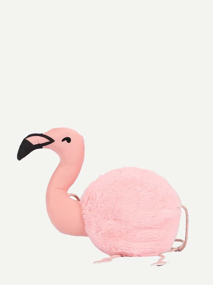 Купить Пушистая сумка через плечо с украшением фламинго для детей, null, SheIn