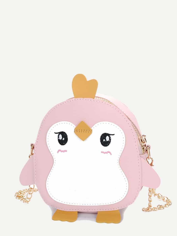 Купить Цепная сумка с вышивкой и украшением птицы для детей, null, SheIn