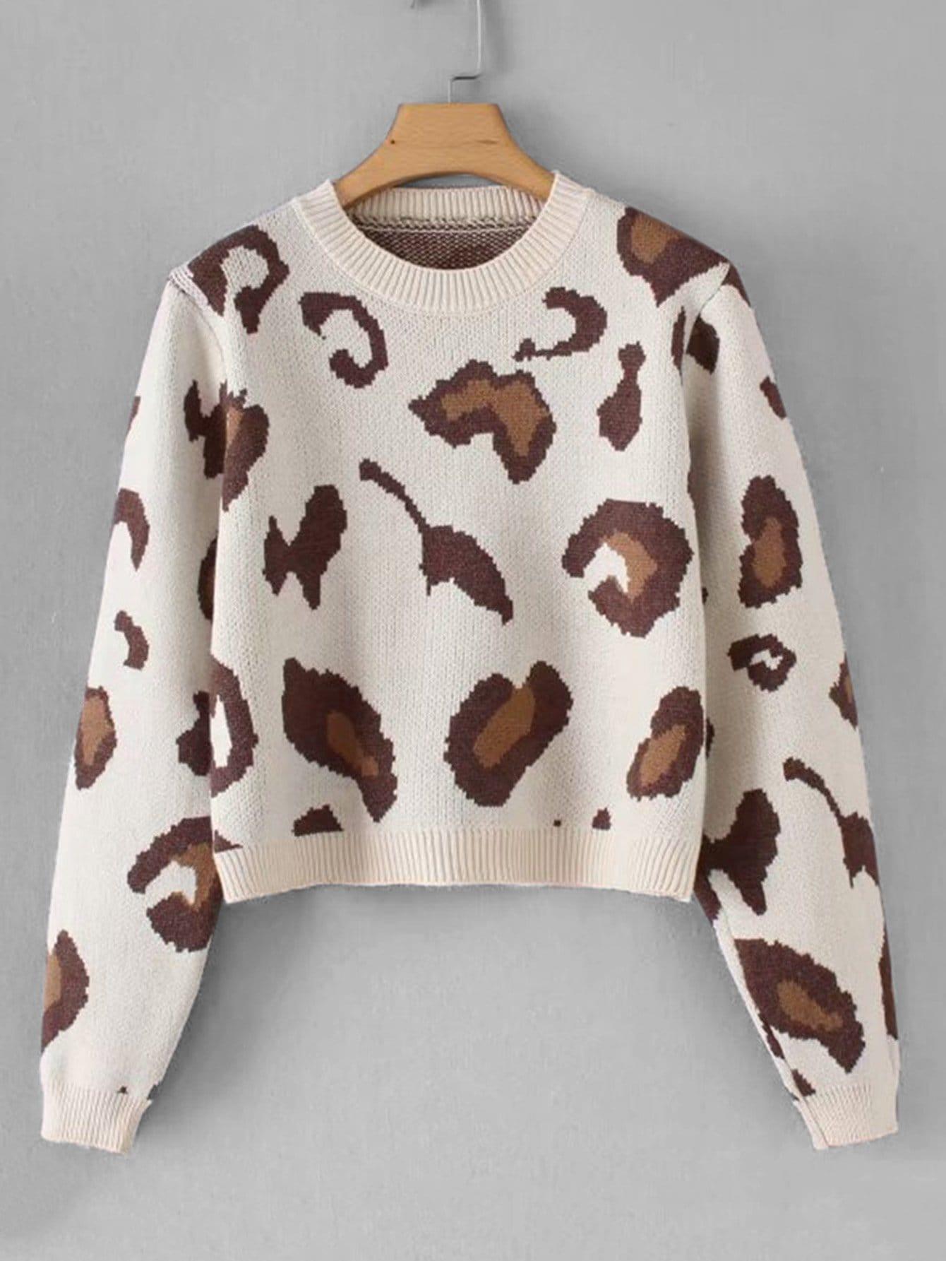 Фото - Леопардовый свитер от SheIn разноцветного цвета