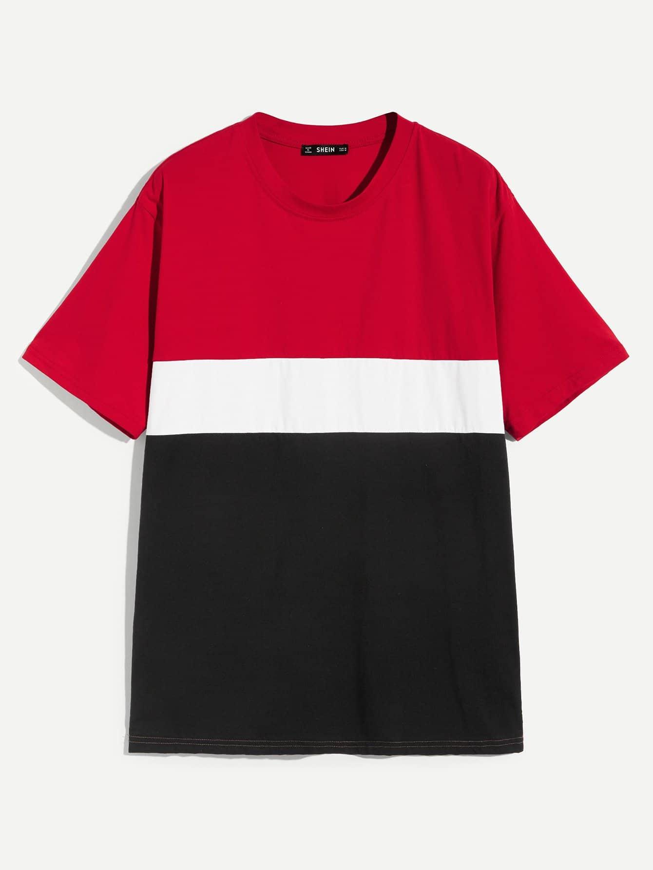 Купить Мужская кроить и шить футболка, null, SheIn