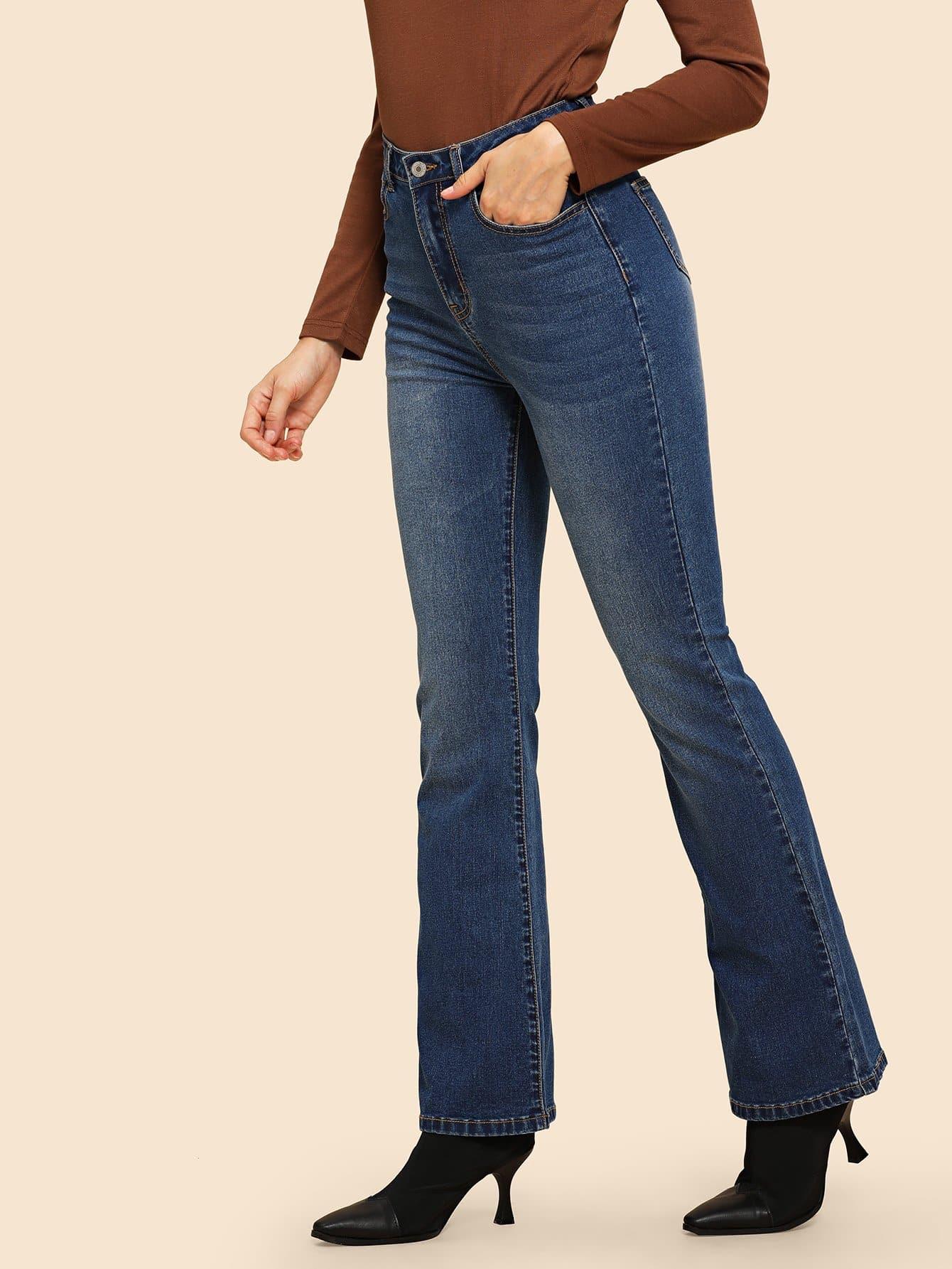 Фото - Омывается отбеленные джинсы от SheIn синего цвета