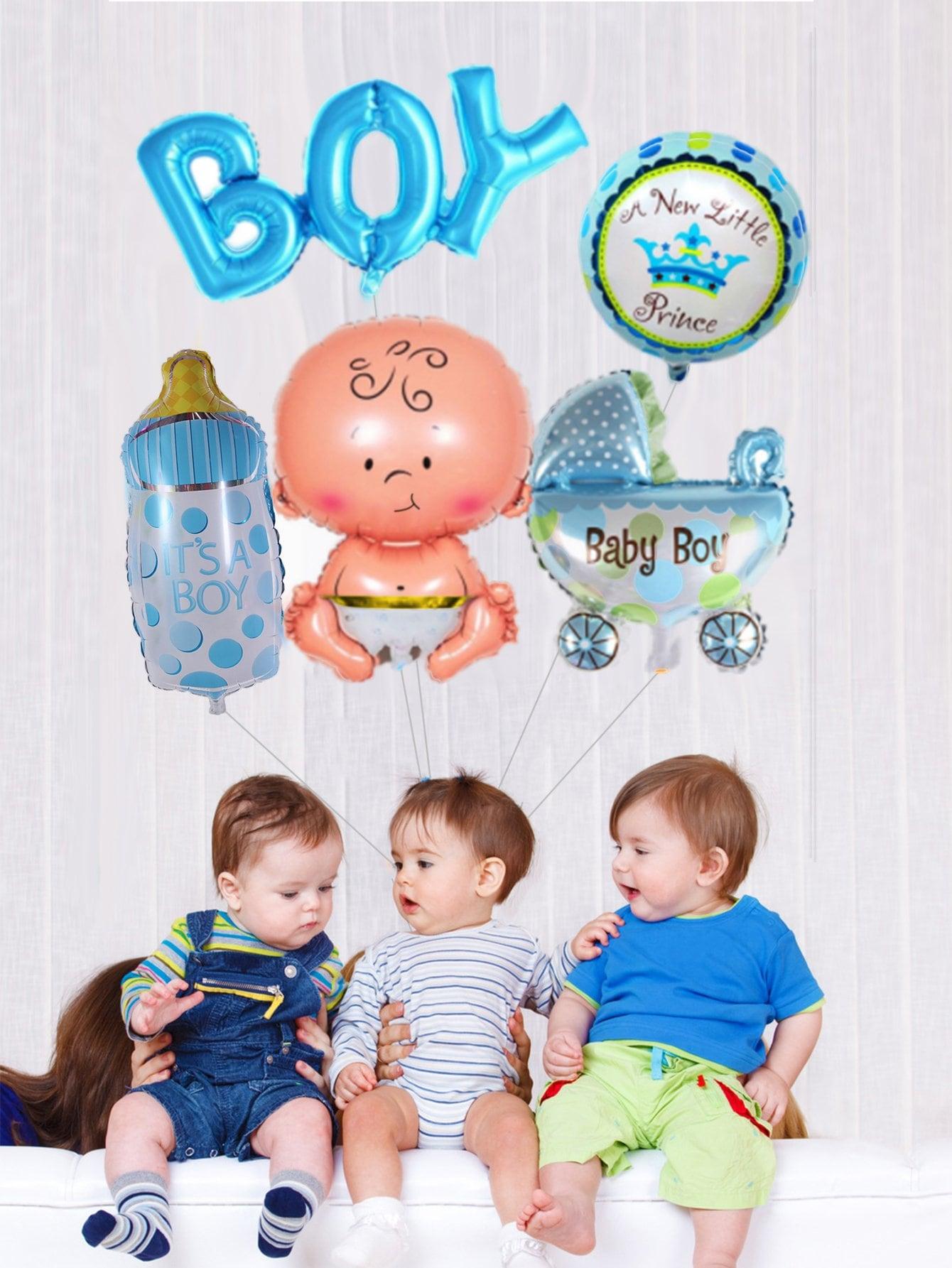Купить Воздушный баннер с днём рождения 5 шт для маленьких малышей, null, SheIn