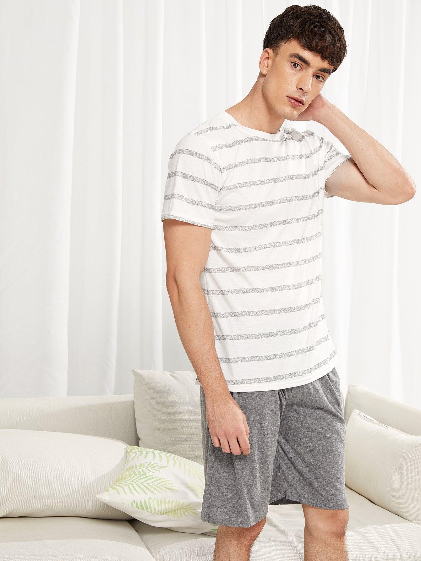 Комплект полосатой пижамы для мужчины от SheIn
