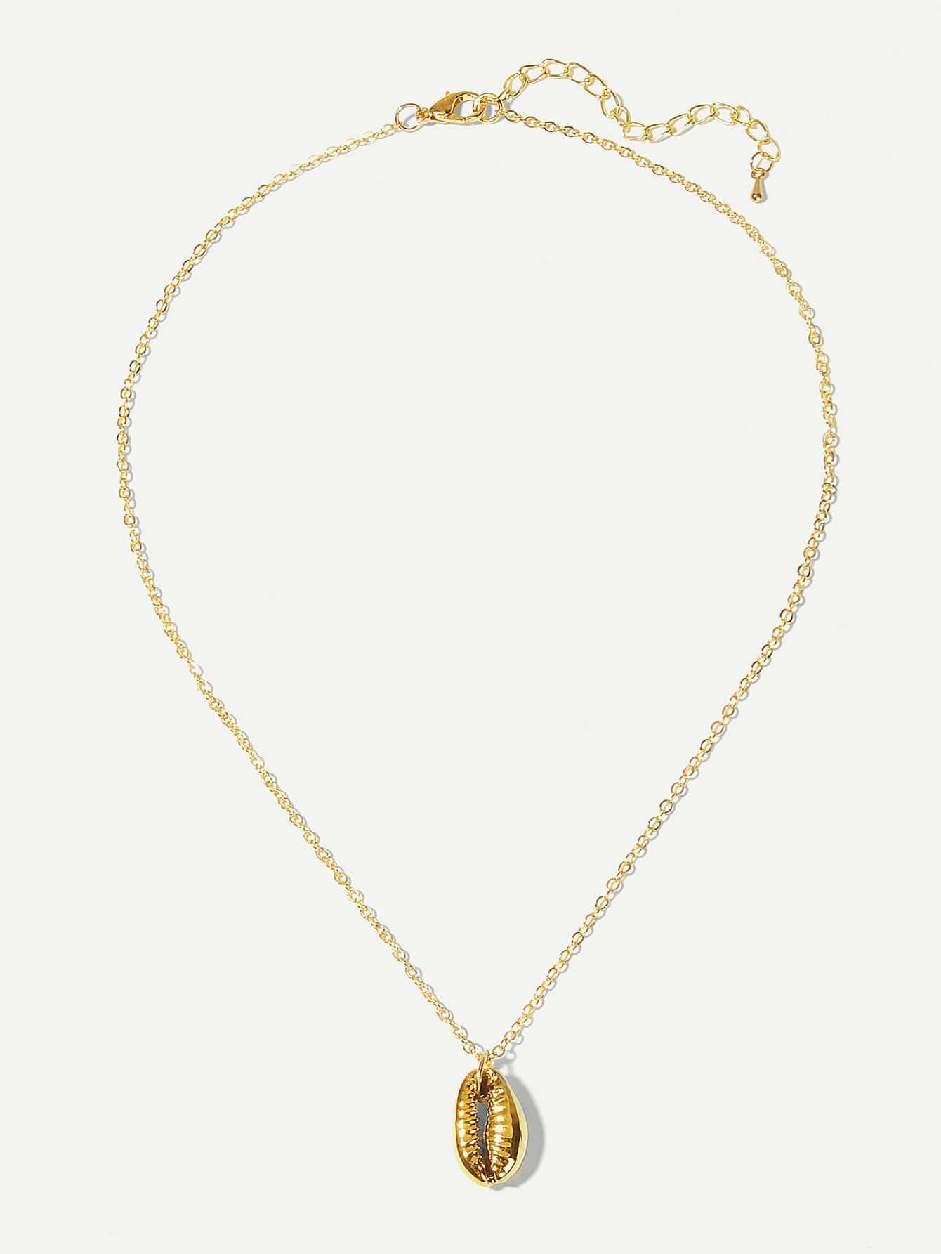 Купить Цепное ожерелье с подвеской металлической радушки, null, SheIn