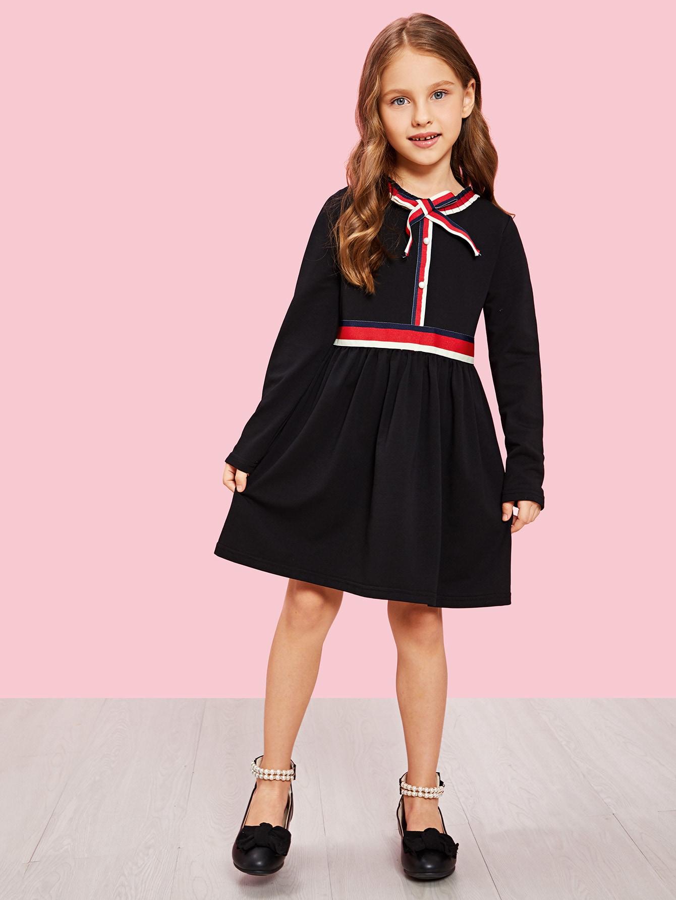 Купить Для девочек A-Line платье на молнии сзади, Anna C, SheIn