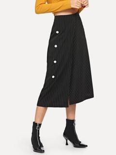 Overlap Striped Skirt