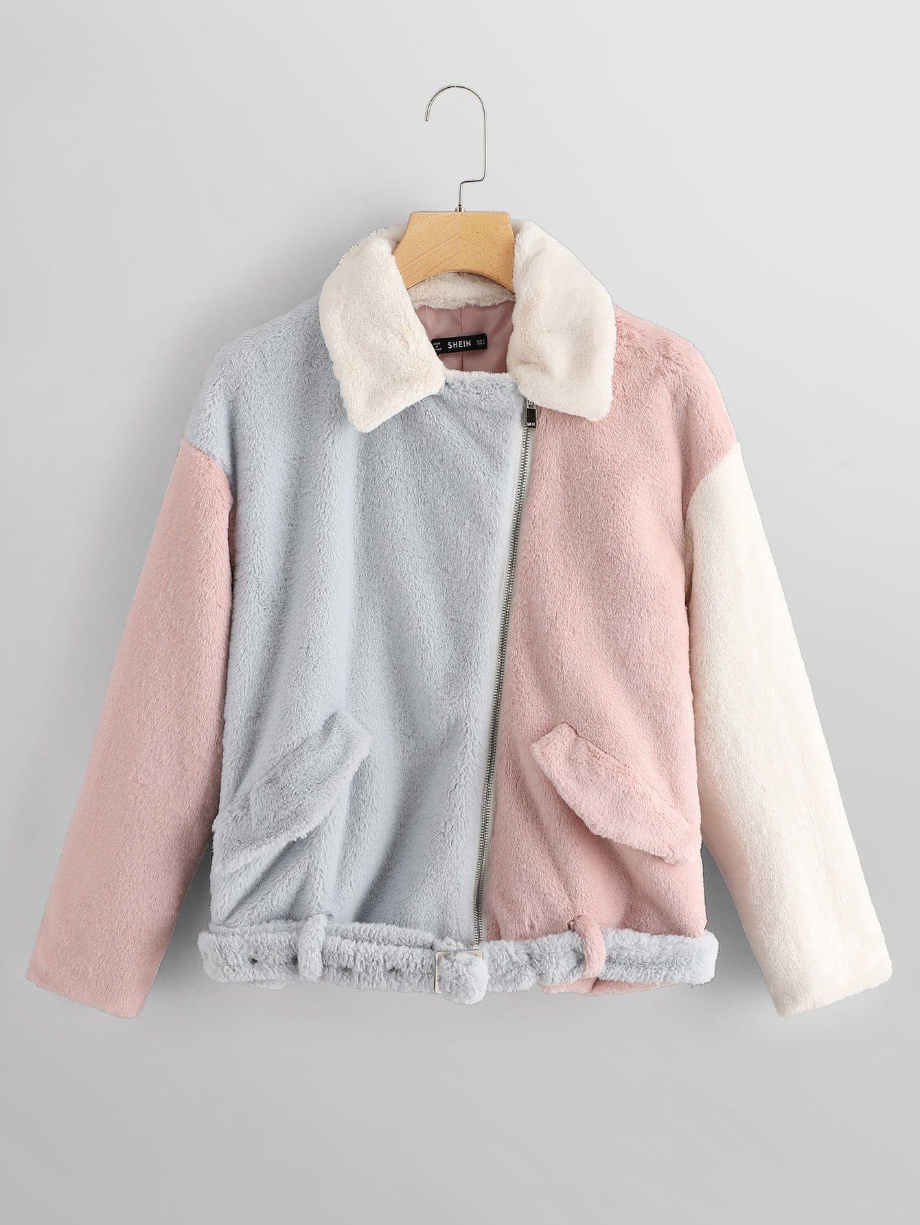 Кроить и шить Рубажное пальто с карманом, null, SheIn  - купить со скидкой