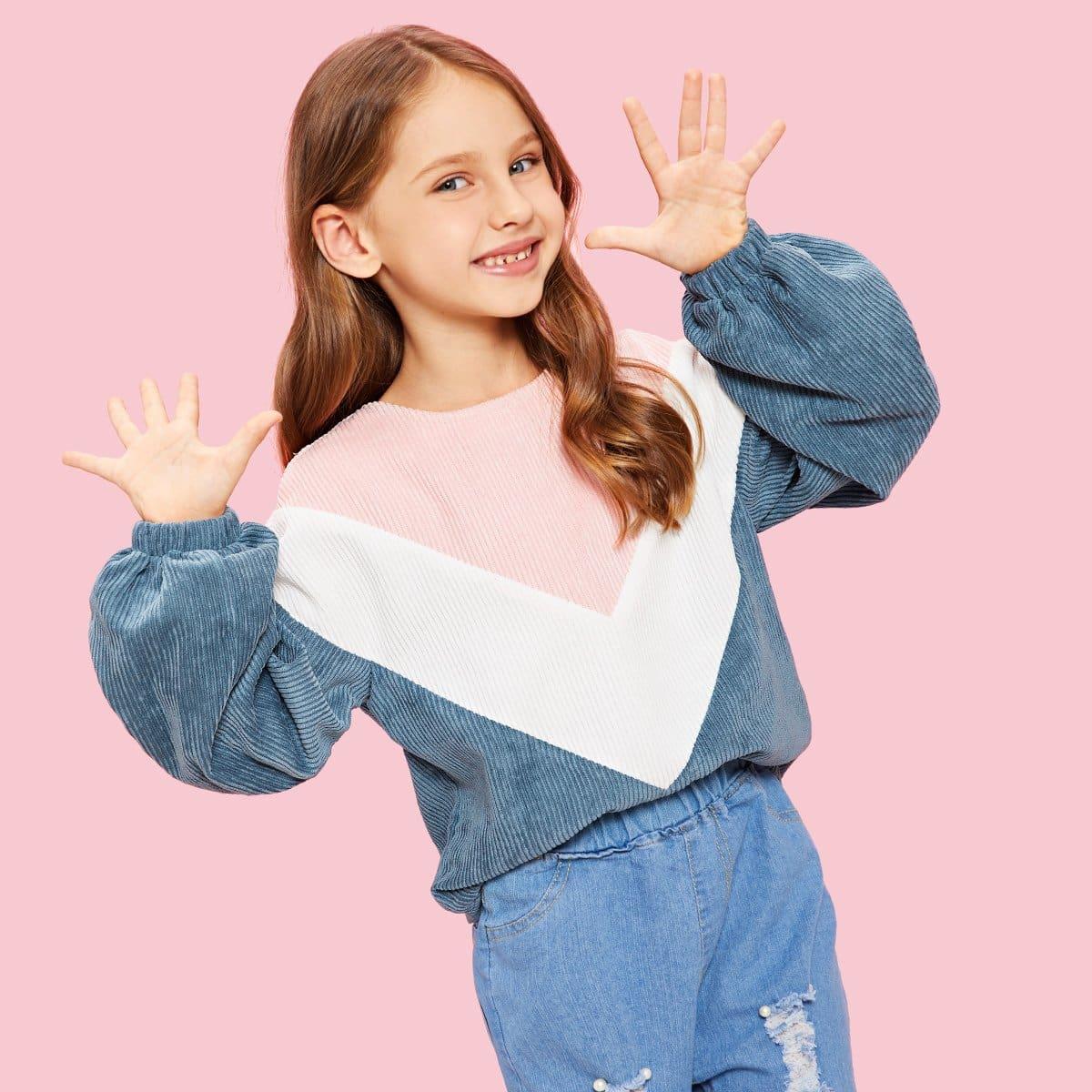 Для девочек кроить и шить пуловер на молнии от SHEIN