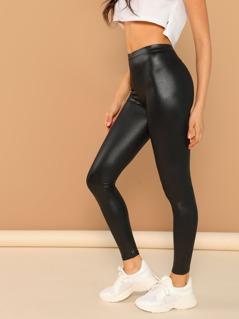 Faux Leather Liquid Stretch Leggings