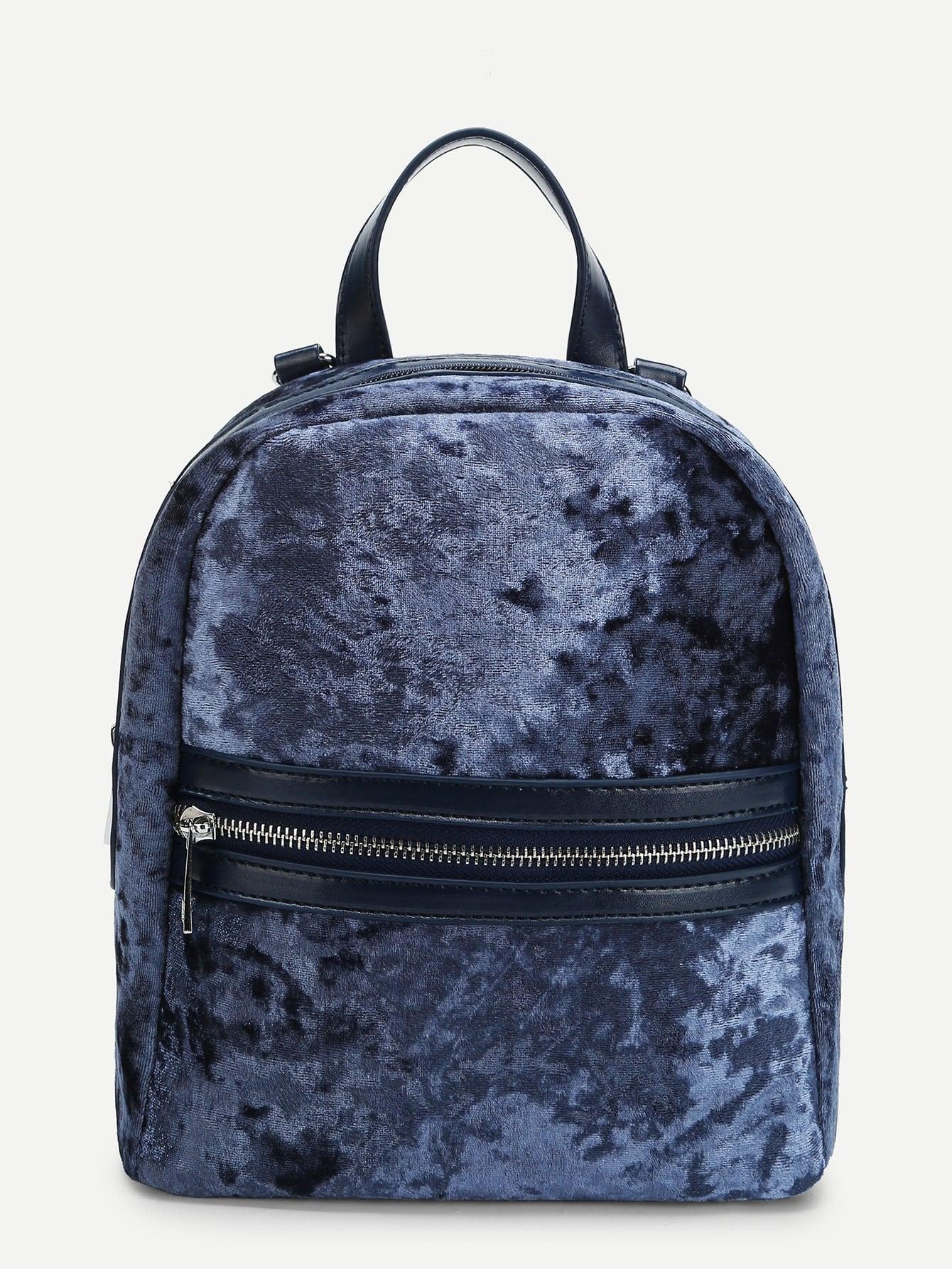 Купить Хлопковый рюкзак с застёжкой молния, null, SheIn