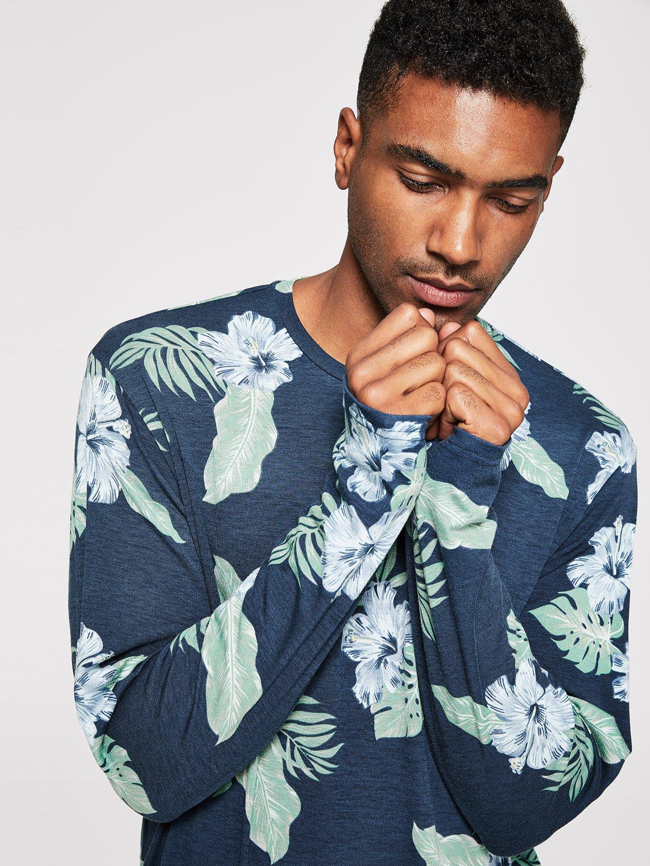 Купить Мужская футболка с цветочным принтом, Johnn Silva, SheIn