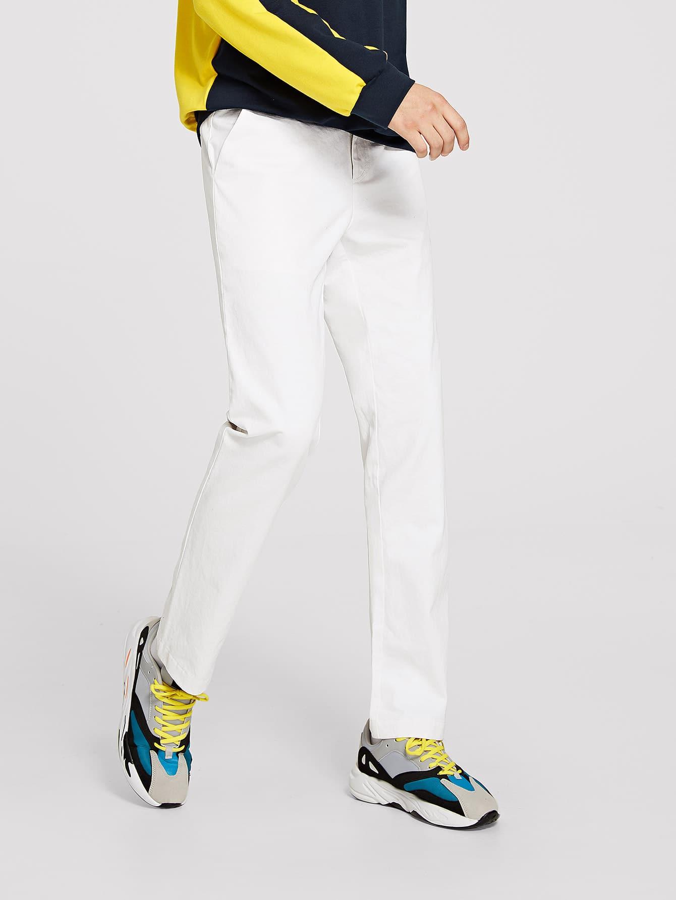 Купить Для мужчин твердые брюки на молнии, Misha, SheIn