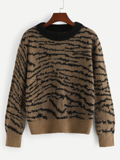 Round Neck Long Sleeve Sweater