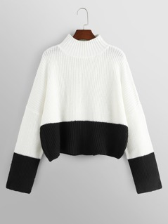 Two Tone Oversized Sweater