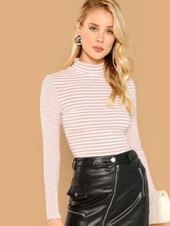 Form Fitting Striped Tee