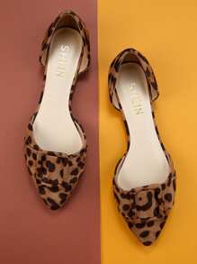 Multicolor Comfort Leopard Buckle Flats, size features are:Bust: ,Length: ,Sleeve Length: