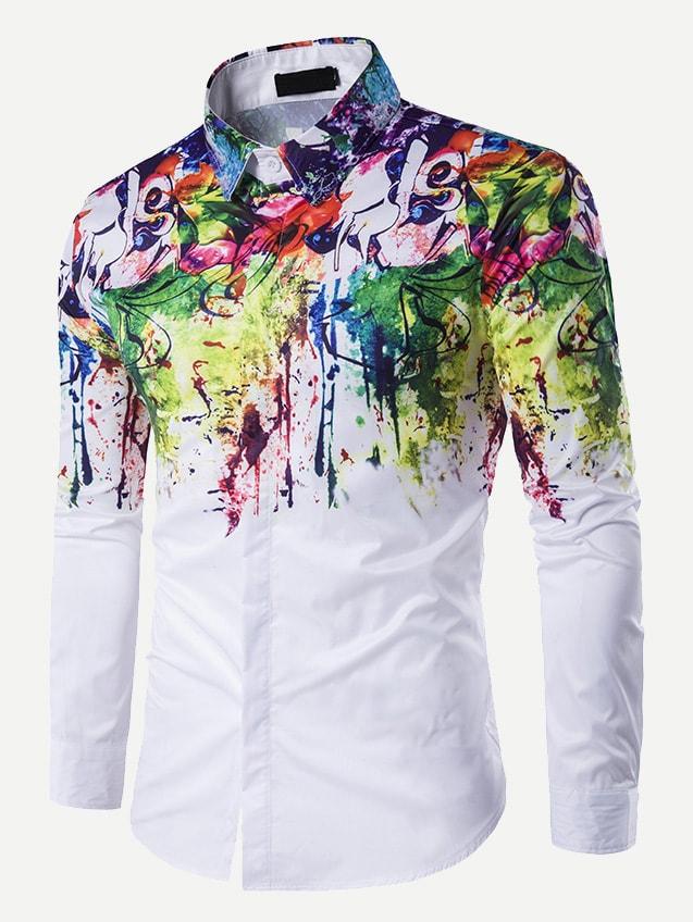 Купить Мужская футболка с принтом племенным, null, SheIn