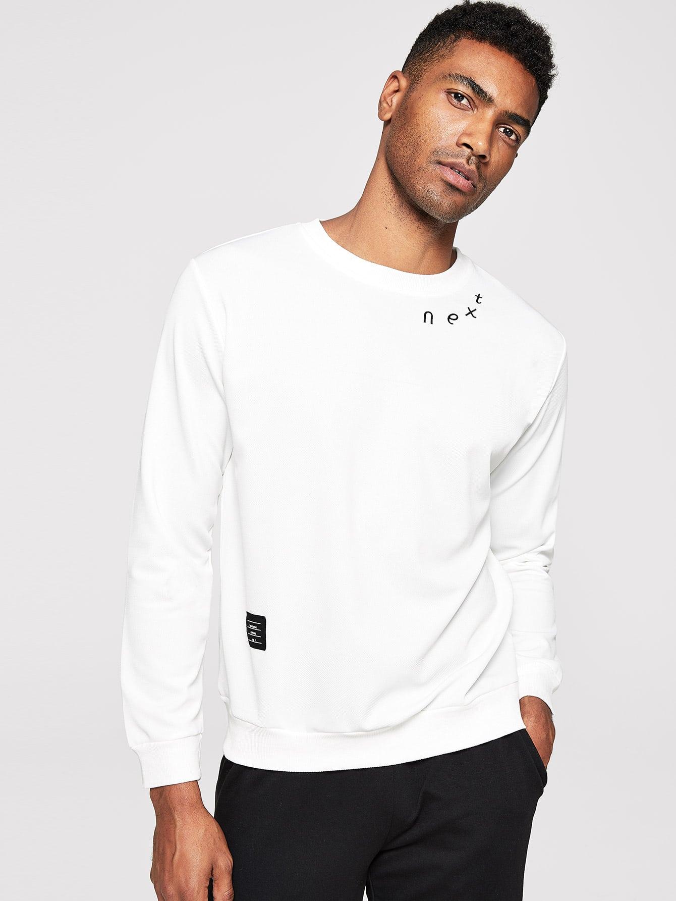 Купить Мужская футболка с вышивкой, Johnn Silva, SheIn