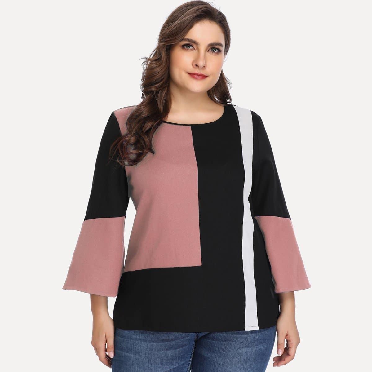 Veel kleurig Casual Grote maten blouses