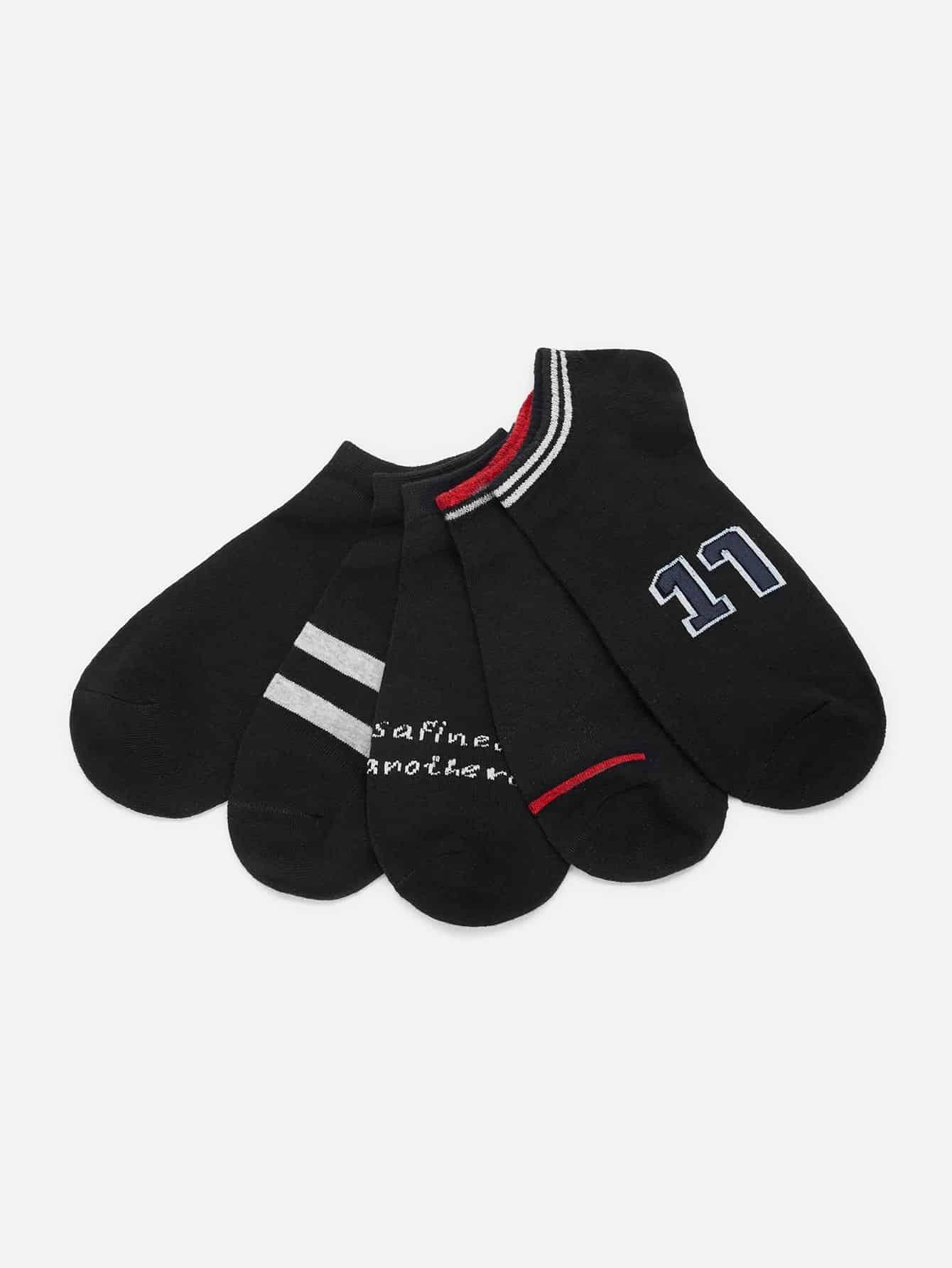 Купить Мужские носки в полоску 5 пар, null, SheIn