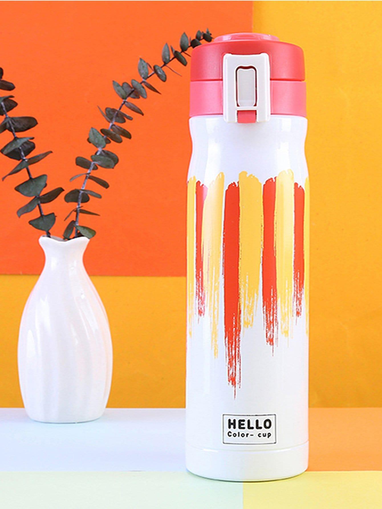 Купить Цветной полоской термос 500 мл, null, SheIn