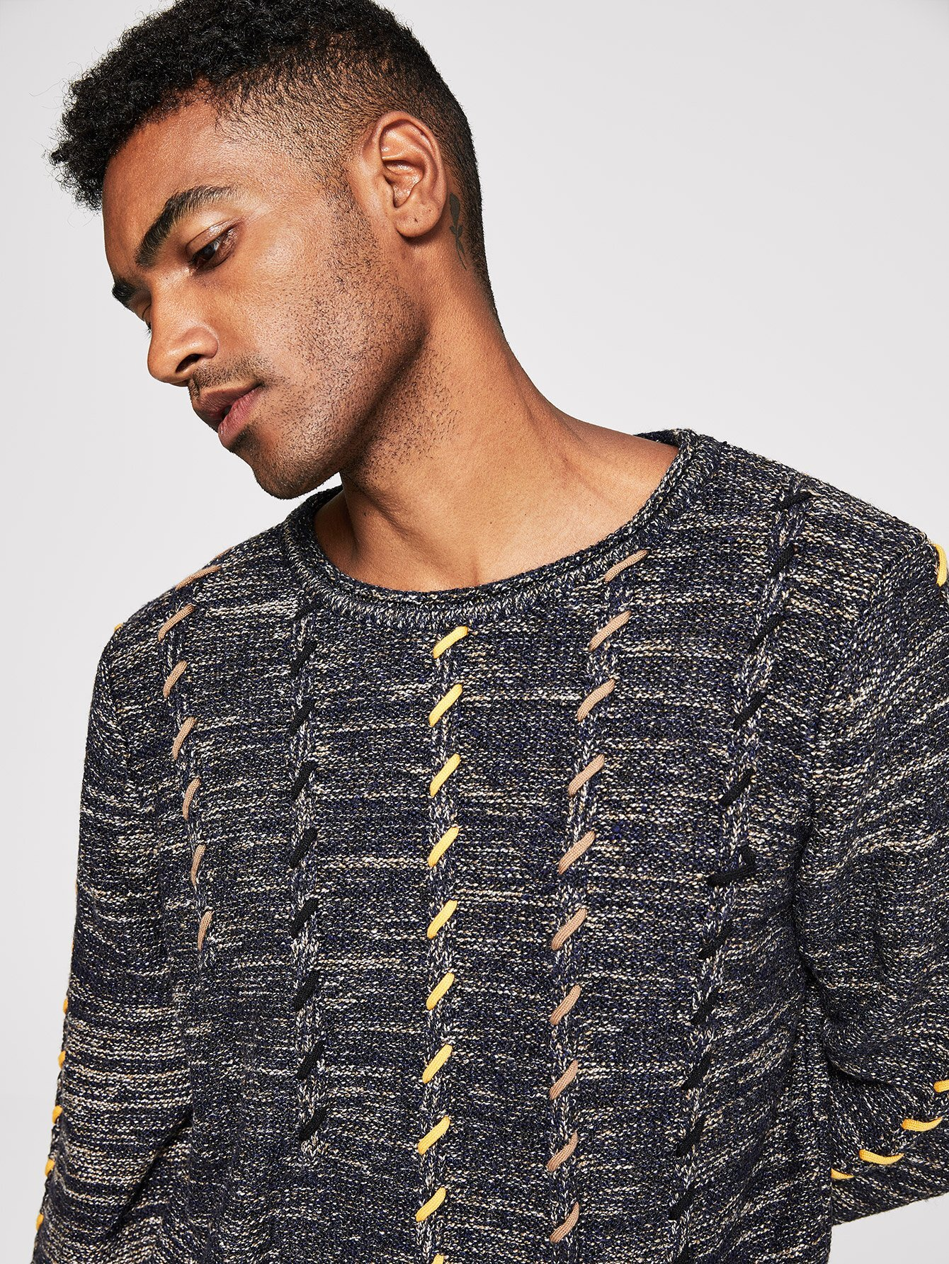 Купить Мужский разноцветный свитер, Johnn Silva, SheIn